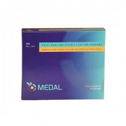 Torebki do sterylizacji Medal, 57x100mm, 200 szt.