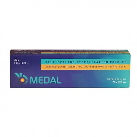 Torebki do sterylizacji Medal, 70x230mm, 200 szt.