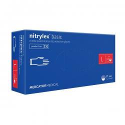 Nitrylex® rękawiczki nitrylowe S, czarne
