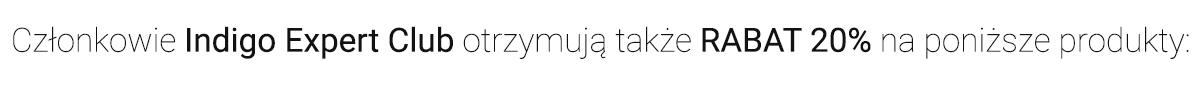 Rabat 20% na produkty Indigo Home SPA