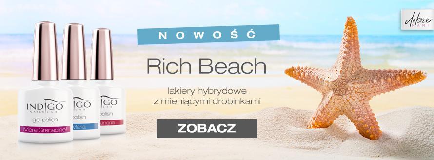 Nowość Indigo - lakiery hybrydowe Rich Beach od Indigo Nails