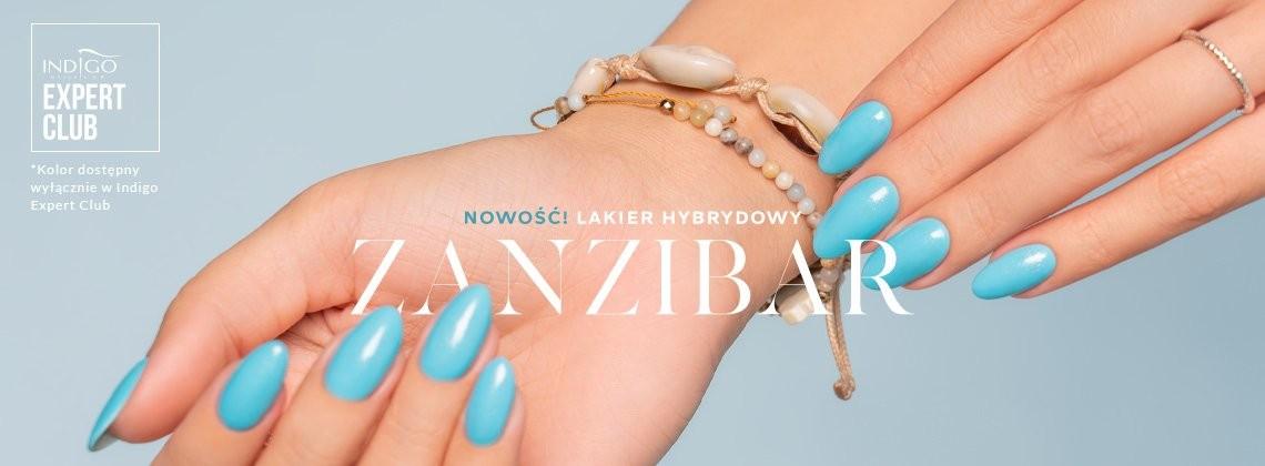 Zanzibar Gel Polish - przepiękny błękit z drobinkami, dostępny wyłącznie w Indigo Expert Club