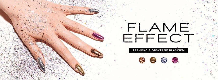 Flame Effect - efekt paznokci oblanych blaskiem, wypróbuje nowe pyłki od Indigo